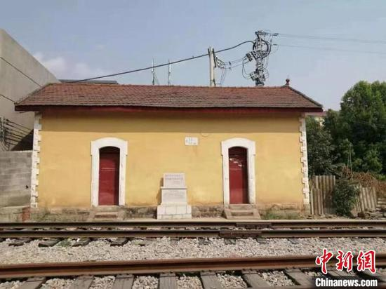 图为可保村火车站革命遗址。 杨益忠供图
