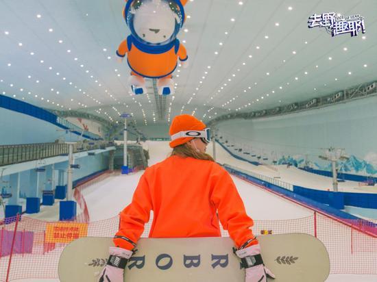 哈尔滨融创雪世界20余块新款雪板全新亮相