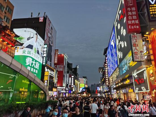 长沙夜景。中新网记者 李金磊 摄