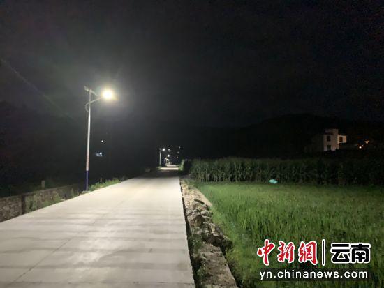 昌宁县田园镇新城社区路灯民生项目