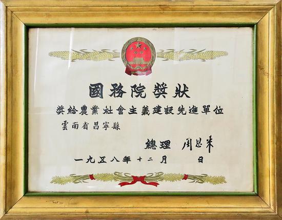 """一张奖状,激活云南昌宁农业发展的""""永动机"""""""