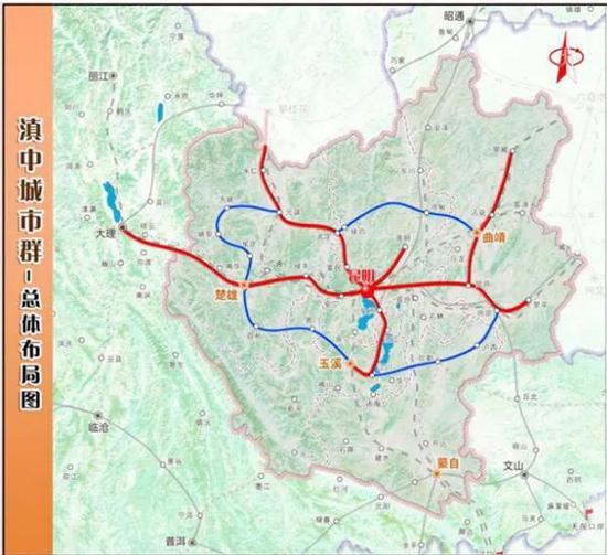 坐火车去澄江喽!昆明拟建3条城际铁路