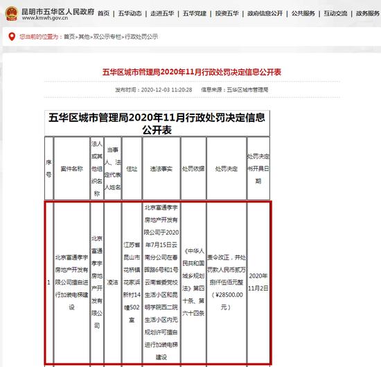 五华区人民政府网站截图