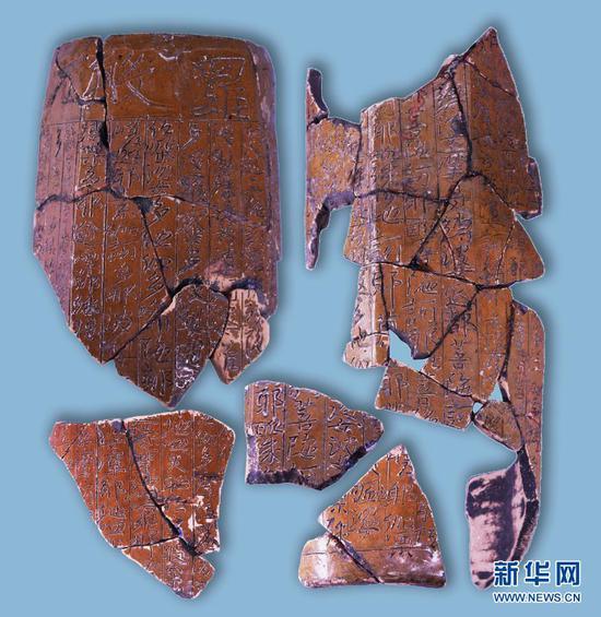 这是出土的经幢。(云南省文物考古研究所供图)