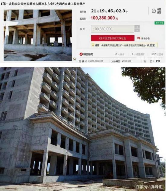 """热议丨负债58亿!云南前首富""""中国翡翠城""""被拍卖"""