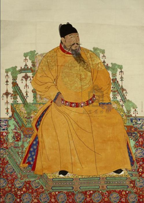 明成祖朱棣像轴。来源:故宫博物院