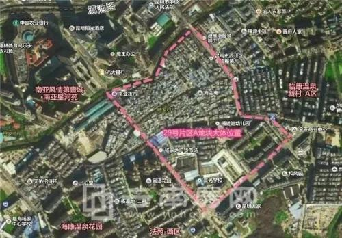 西山区29号片区A地块大体位置及范围