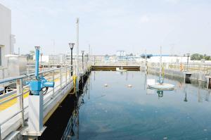 倪家营水质净化厂建成后。