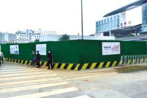 昆明火车站(北广场)围挡施工!安检通道临时调整
