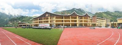 图为珠海援建的新学校一角。记者 贺林平摄