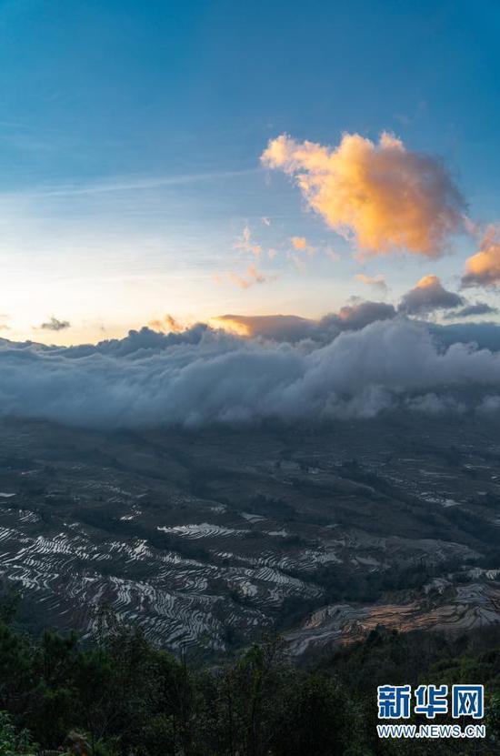 这是1月6日傍晚拍摄的哈尼梯田。