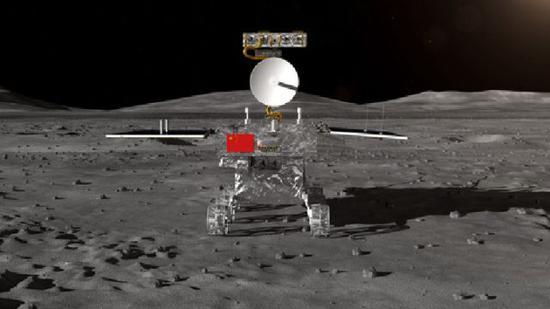 这是探月工程嫦娥四号任务月球车外观设计构型。新华社发(国家国防科工局供图)