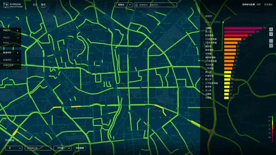 出租车所经路段空气质量可通过系统查询/昆明市环境监测中心 供图