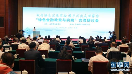 """9月29日,""""绿色金融政策与实践""""交流研讨会在昆明举行。新华网 刘云 摄"""