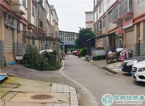 居民占用公共区域私搭停车棚。