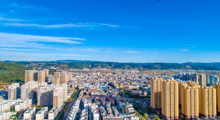 澄江市县城航拍