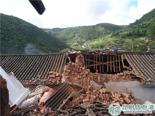 姚安县大河口乡民房受损