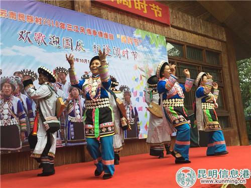 朴实热情的傈僳族原生态歌舞。实习记者张乐凡/摄