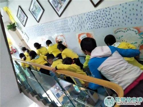 幼儿园师生紧急疏散到安全区域