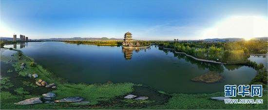 云南保山青华海国家湿地公园(2019年8月20日摄)。新华网发(毛三 摄)