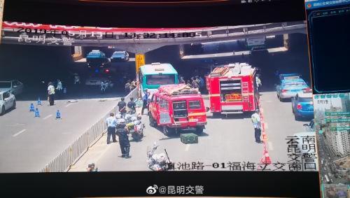 图片来源:云南省昆明市公安局交警支队。