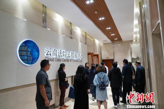 图为代表在云南省高级人民法院视察 杜潇潇 摄