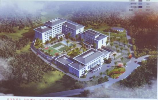州二院山竹坡精神康复院区规划设计鸟瞰图