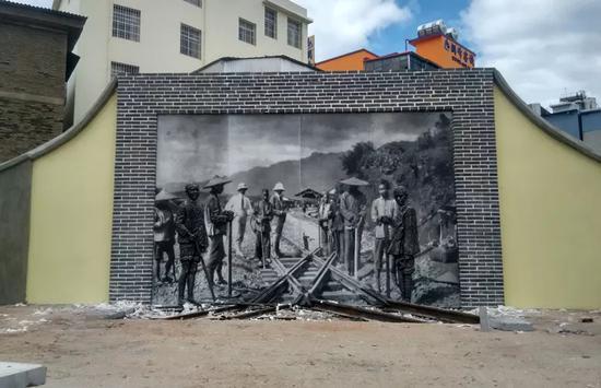 艺术造型雕塑墙