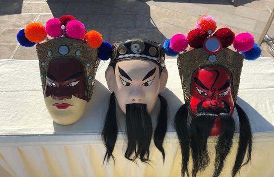 澄江关索戏面具展示