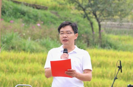 玛御谷温泉投资有限公司董事长许斐(王娅男/摄)