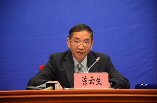 云南省工业和信息化委员会副主任陈云生(赵嘉摄影)