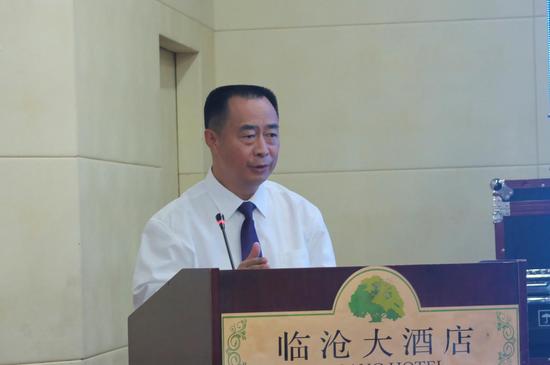 中共临沧市委副书记、市人民政府市长张之政致辞(张玲/摄)