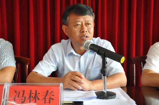 ▲县委副书记、县长冯林春讲话