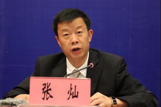 中共云南省委台湾工作办公室副主任、新闻发言人张灿发布新闻(记者 罗威 摄影)