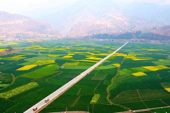 高清图丨云南宾川:初春大地宛如天然调色板