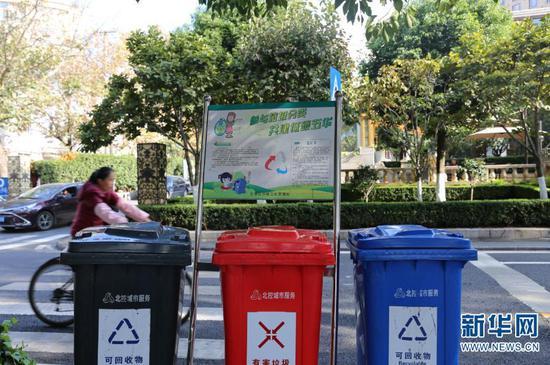 翠湖社区垃圾分类(11月16日摄)。新华网 彭雪薇 摄