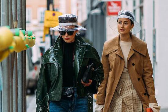 2018秋冬伦敦时装周:潮人街拍