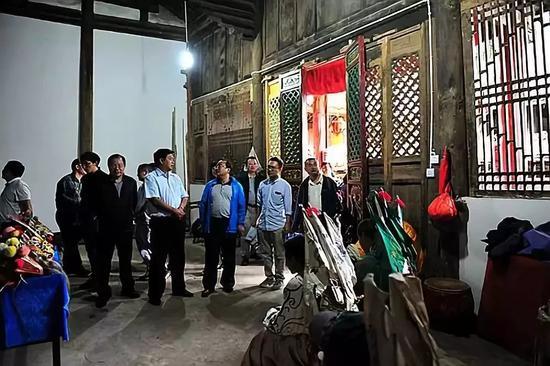 省文化厅领导到灵峰寺考察 (图片来源于网络)