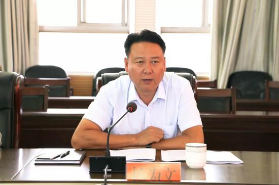 ▲县委常委、宣传部长杨为文讲话