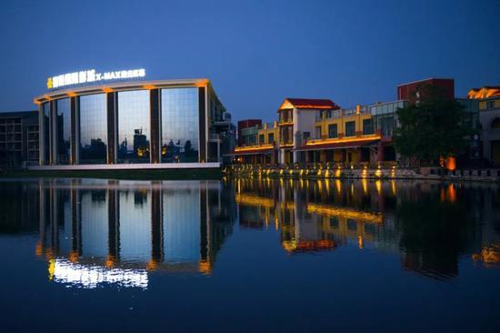 ▲小桂湖晚景
