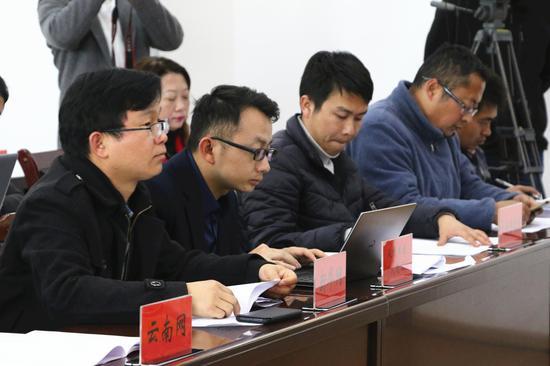 参加新闻发布会的媒体(王娅男/摄)