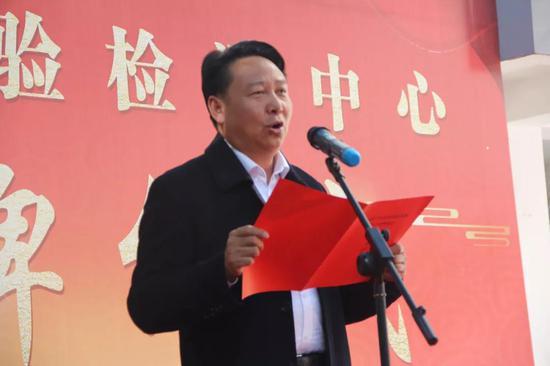 县委常委、宣传部部长杨为文主持仪式