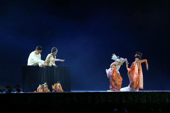 缅甸舞蹈《木偶舞》(王娅男/摄)