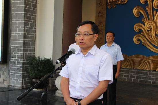 中共大理州委常委、州委宣传部部长彭斌宣布活动开幕