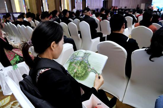 参会嘉宾观看规划图