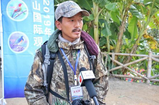 Phub Dorji接受采访(王娅男/摄)