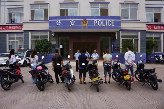 镇沅公安破获6起摩托车被盗案件