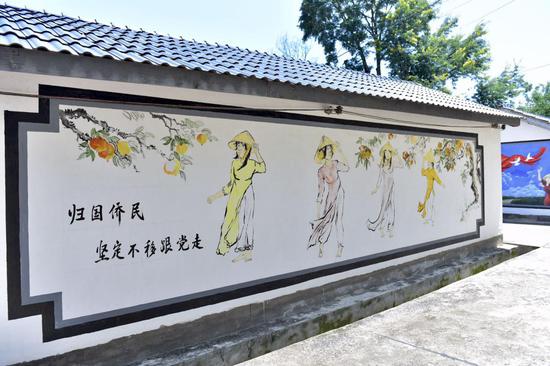 文化墙(侯开旷/摄)