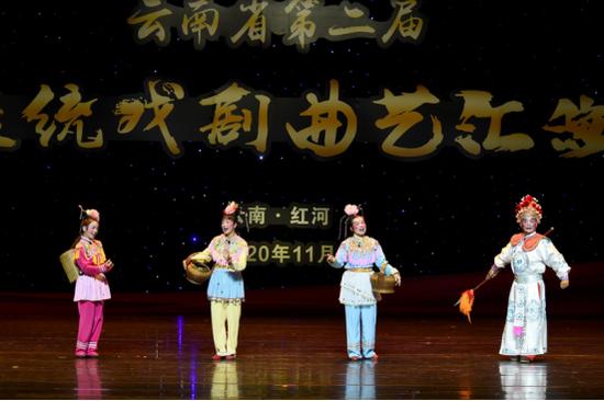 壮剧《千里迢迢送京娘》片段 文山州代表队--阮坤瑾 摄