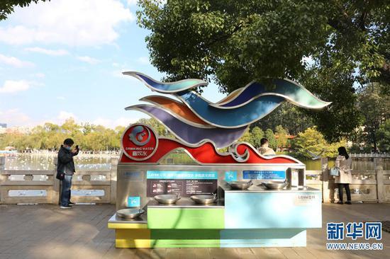 翠湖社区洗手台(11月16日摄)。新华网 彭雪薇 摄